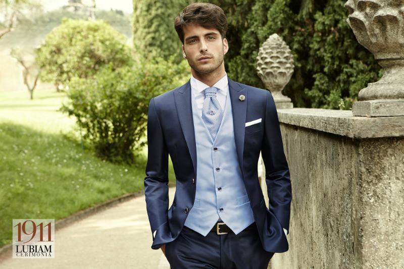 Vestito Matrimonio Uomo Azzurro : Lubiam gli abiti da cerimonia cecchi uomo